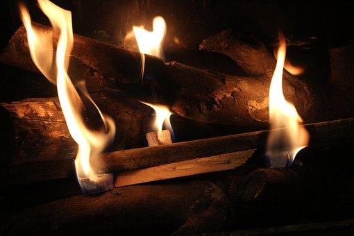 Fireplace, Wood Fire, Fire, Wood, Flame, Home, Winter
