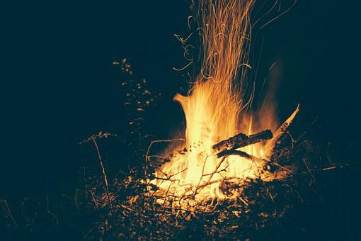 Campfire, Flames, Fire Warm, Heat, Warmth, Fire, Flame