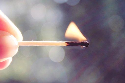 Match, Flame, Fire, Burn, Hot, Wood, Heat, Ignition