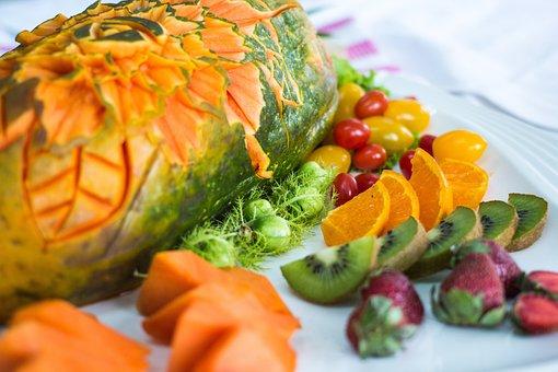Fruit, Papaya, Kiwifruit, Food, Orange, Fresh, Healthy