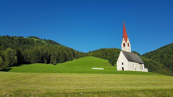 Church, Landscape, Tyrol, Green, Nature, View, Sky