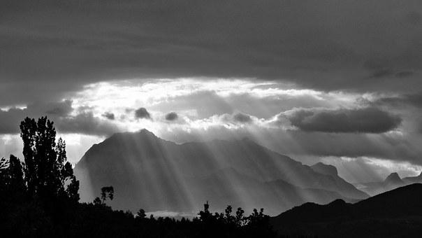 Sun's Rays, Rays, Landscapes, Nature, Mountain, Sky