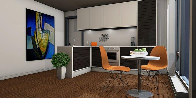 Kitchen, Lichtraum, Gallery, Living Room, Apartment