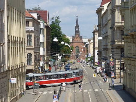 Tram, Czech Republic, Moravia, Brno, The Streets