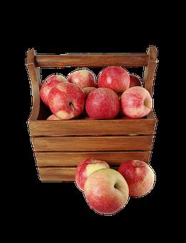 Isolated, Apples, Fruit, Food, Healthy, Fresh, Organic