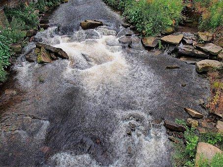 River, Stream, Flow, Swirl, Water, Current, Eddy