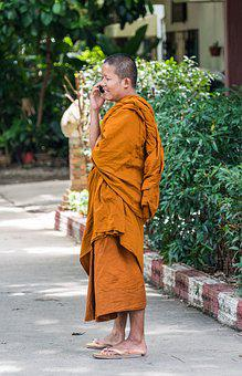 Monk, Young, Boy, People, Person, Happy, Smiling