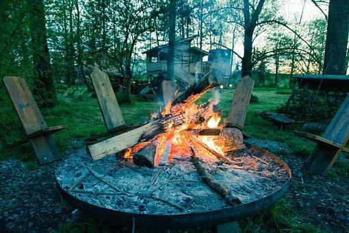 Outdoor, Summer, Out, Camping, Fire, Barbecue, Campfire