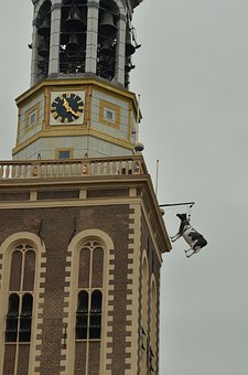Tower, Church Tower, Cow, Hang, Church Bell