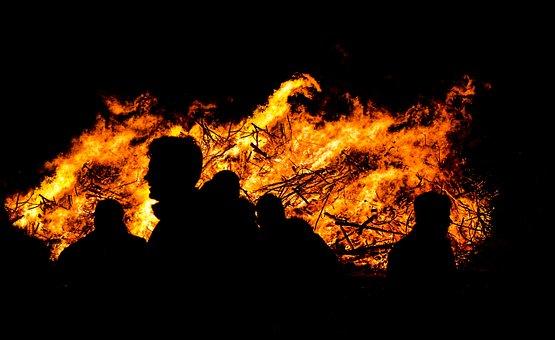 Watching, Fire, Hot, Warm, People, Heat, Burning, Flame