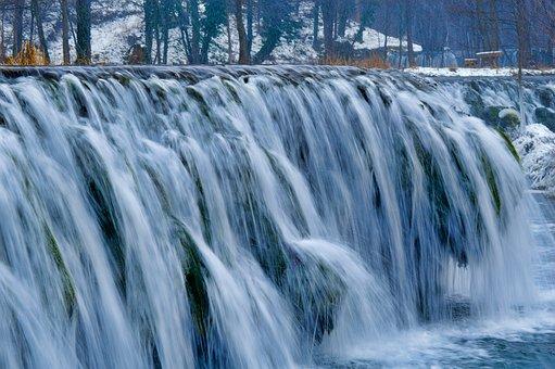 Cascade, Ice, Water, Cold, Winter, Stream, Nature