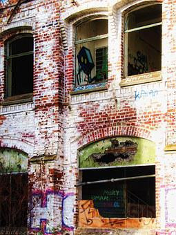 Factory, Building, Old, Lapsed, Hauswand, Window, Ruin