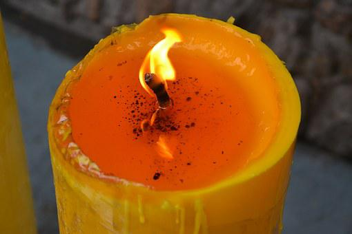 Flame, Candle, Yellow, Wax, Fire, Light, Warm