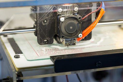 Printer, 3d, Print, 3d-printing, White, 3d Model