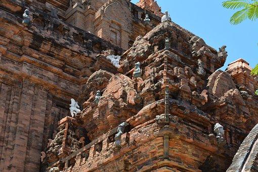 Cham, Po Nagar, Temple, Ancient, Vietnam, Tower