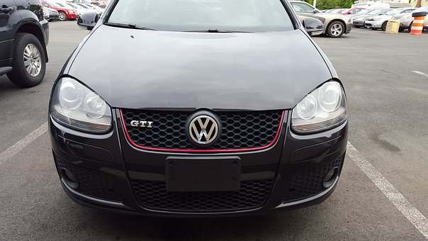 Volkswagen, Vw, Gti, Black, Car, Turbo, Headlights