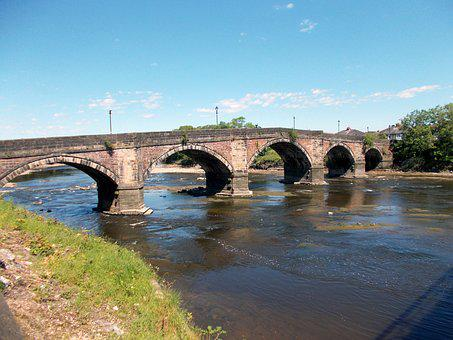 Old, Bridge, River, Ribble, Preston, Completed, 1759