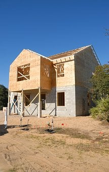 House, Construction Site, Frame, Wood, Construction