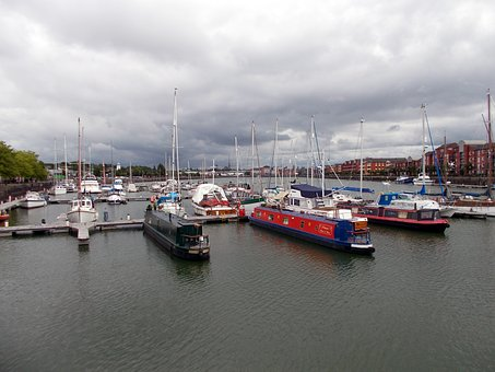 Storm, Clouds, Over, Preston, Dock, Marina