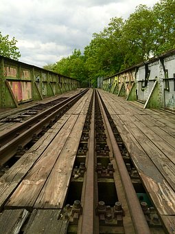 Gleise, Rails, Railway, Railway Tracks, Old