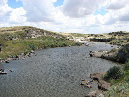 River, Hill, Mountain, Landscape, Nature, Solo, Beauty