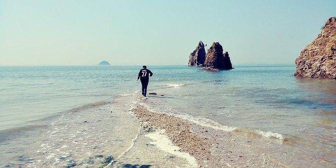 Jebudo, West Sea, Sea, Moses, Blue, Island, Play, Fun
