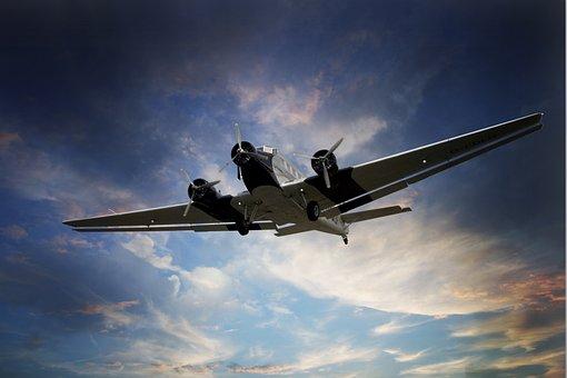 Aircraft, Ju 52, Sky, Flying, Wanderlust, Junkers