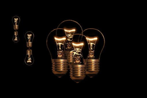 Light Bulb, Bulbs, Version, Light, Glow Wire, Thread