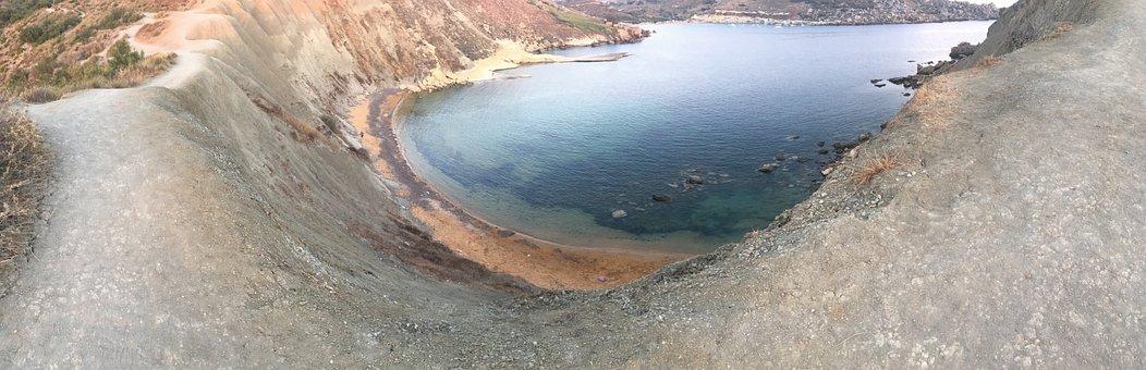 Malta, Sea, Summer, Panorama, Holiday, Beach, Landscape