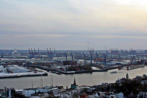 Hamburg, Port Motifs, Michel, Panorama