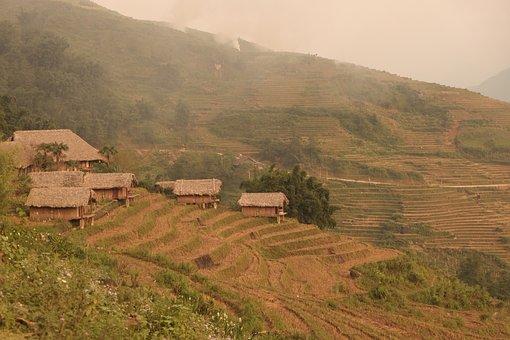 Mountain, Hill, Landscape, Farm, House, Home, Hostel