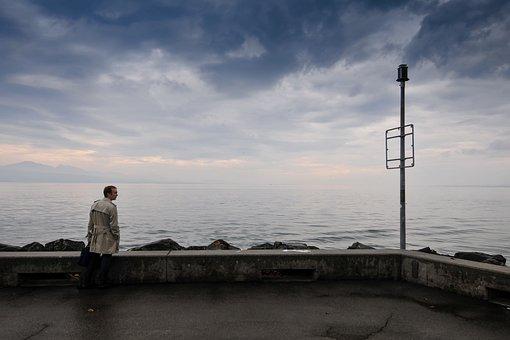 Ouchy, Lausanne, Geneva, Lake, Switzerland, Lake Geneva