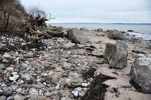 Coast, North Sea, Cliff, Fjord, Förde Flensburg, Rock