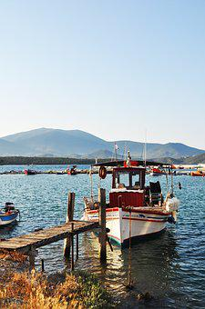 Greece, Skiathos, Boat, Sea, Sunset, Sand, Landscape