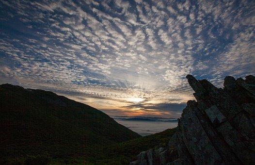 Sunrise, Mudeungsan, Cloud, Sky, Solar, Nature