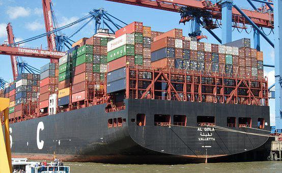 Container Ship, Trade In Goods, Container Handling