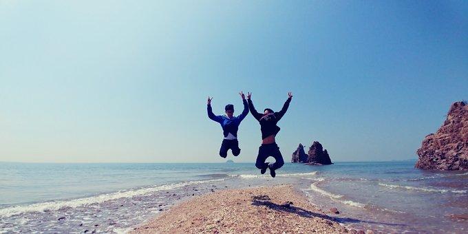 Jebudo, Play, Waves, Blue, Water, Sea, Island, Moses