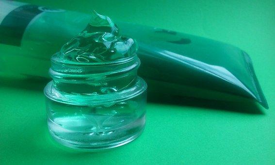 Aloe Vera, Skin Care, Gel, Tube, Green, Jar, Glass