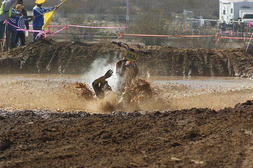Motocross, Mx, Crash, Bike, Extreme, Sport, Race