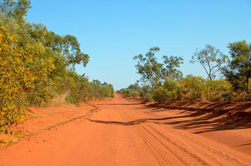 Red Sand, Sand, Bumpy, Cape Leveque, Road, Outback