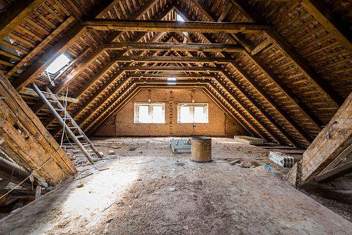 Attic, Dirty, Abandoned, Empty, Wood, Dusty, Old