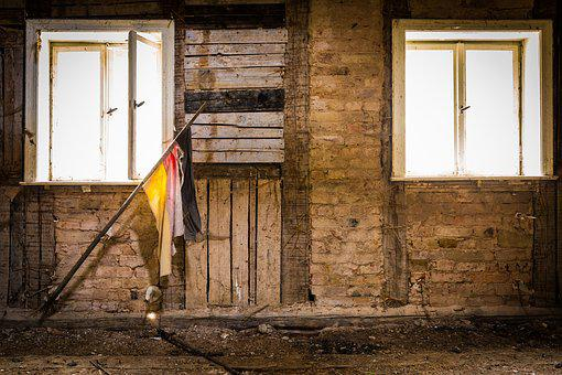Flag, Attic, Forget, Germany, Places Of Interest, Past