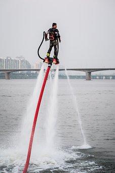 Water Jet Ski, Extreme, Sport, Summer, Han River, Cool