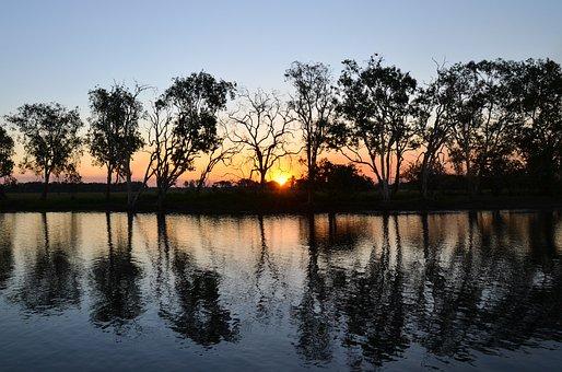 Yellow Water Billabong, Yellow Waters, Kakadu, Sunset