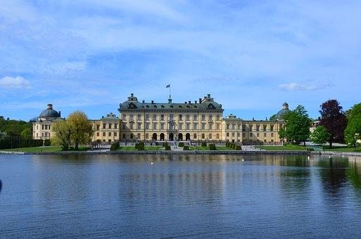 Stockholm, Sweden, Drotning Holm, Palace, Castle, Water