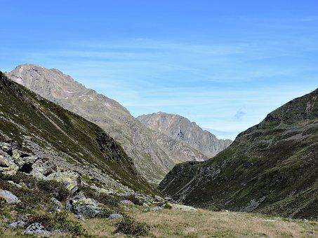The Sellrain Valley, Pforzheim Hut, Hiking, Mountains