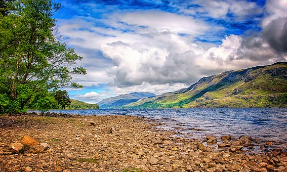 Landscape, River, Scotland, Highlands And Islands