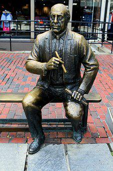 Statue, Red Auerbach, Boston, Basketball, Celtics