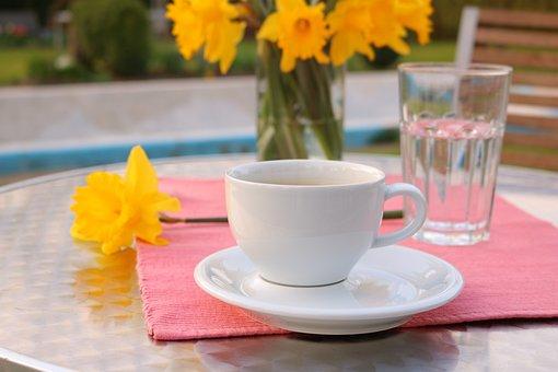 Coffee, Garden, Caffeine, Out, Enjoy, Table, Summer