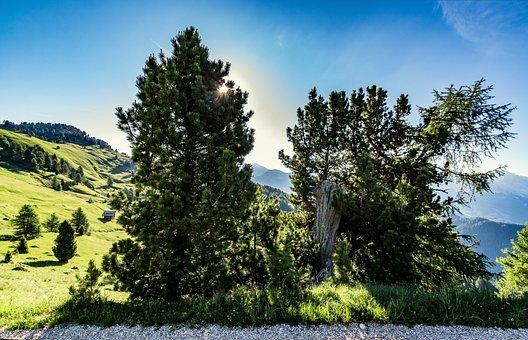 Sun, Sunbeam, Clouds, Sky, Nature, Landscape, Mountains